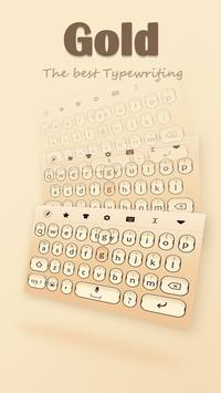 Gold Keyboard Theme screenshot 10
