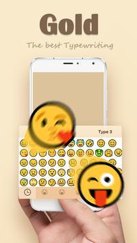 Gold Keyboard Theme screenshot 1
