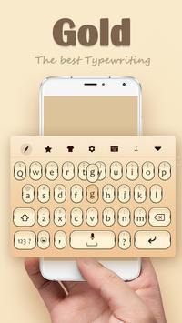 Gold Keyboard Theme screenshot 2