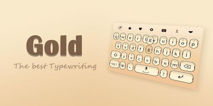 Gold Keyboard Theme screenshot 4