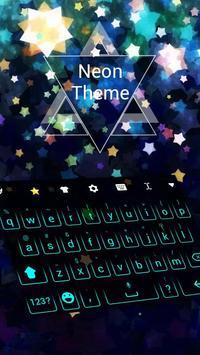 Neon Keyboard Theme poster