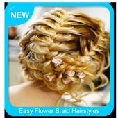 Easy Flower Braid Hairstyles icon