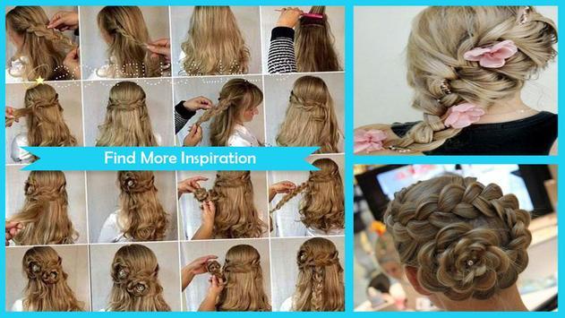 Easy Flower Braid Hairstyles screenshot 1