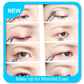 Make up for monolid eyes icon