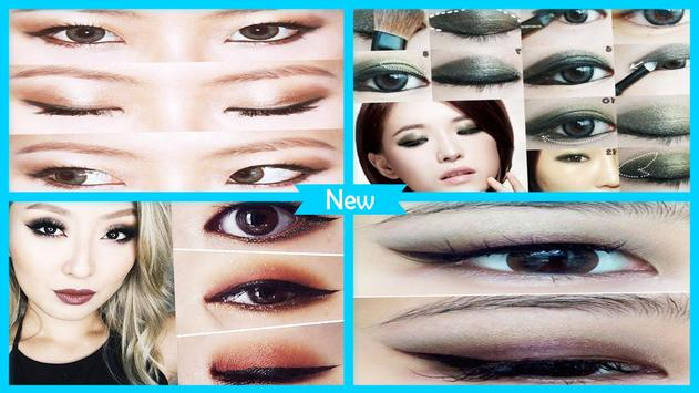 Make up for monolid eyes poster