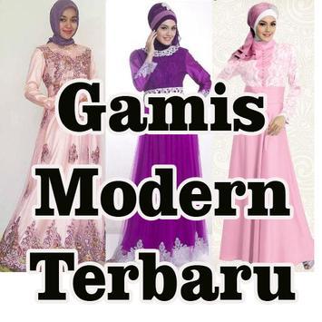 Desain Gamis Modern Terbaru poster