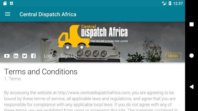 Central Dispatch Africa apk screenshot