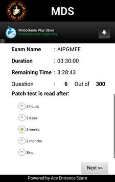 MDS Exam apk screenshot