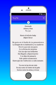 Adexe & Nau Canciones y Letras screenshot 3