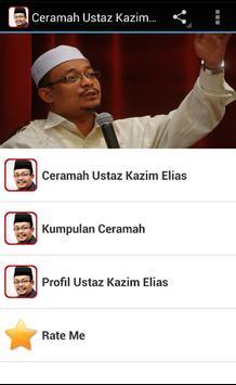 Ceramah Ustaz Kazim Elias poster