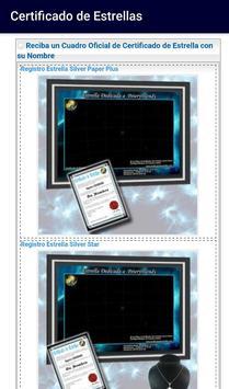 Certificado de Estrellas apk screenshot
