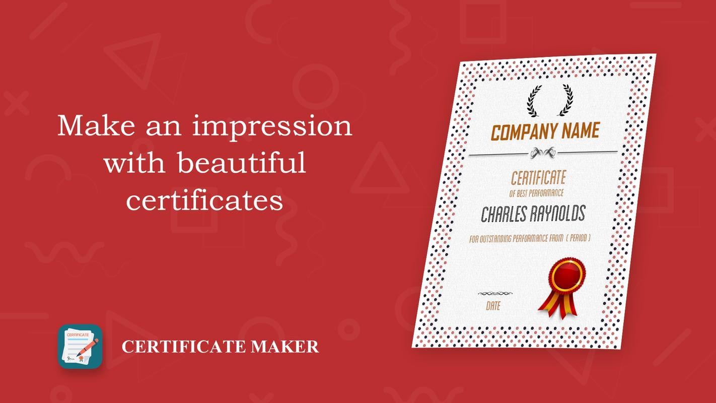 Certificate creater