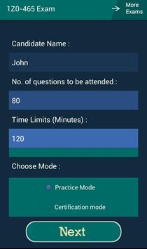 CB 1Z0-465 Oracle Exam screenshot 16
