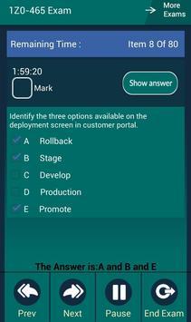 CB 1Z0-465 Oracle Exam screenshot 9
