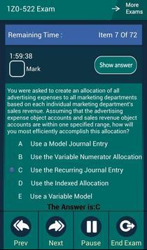 CB 1Z0-522 Oracle Exam apk screenshot