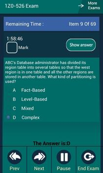 CB 1Z0-526 Oracle Exam screenshot 4