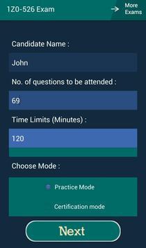CB 1Z0-526 Oracle Exam screenshot 6