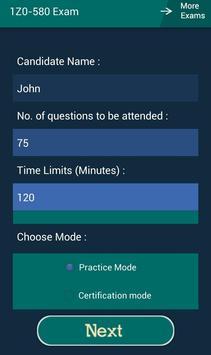 CB 1Z0-580 Oracle Exam apk screenshot
