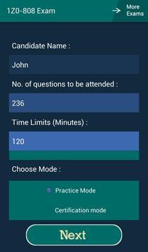 CB 1Z0-808 Oracle Exam apk screenshot