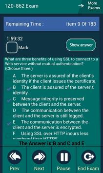 CB 1Z0-862 Oracle Exam apk screenshot