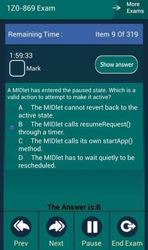 CB 1Z0-869 Oracle Exam screenshot 4