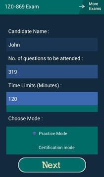 CB 1Z0-869 Oracle Exam screenshot 6