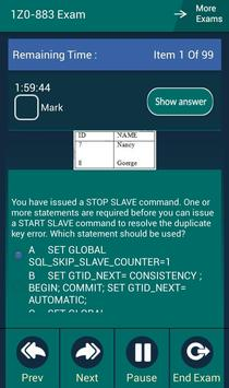 CB 1Z0-883 Oracle Exam apk screenshot