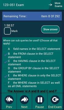 CB 1Z0-051 Oracle Exam apk screenshot