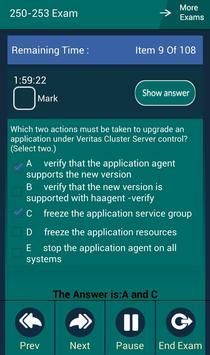 CB 250-253 Symantec Exam apk screenshot