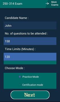 CB 250-314 Symantec Exam apk screenshot