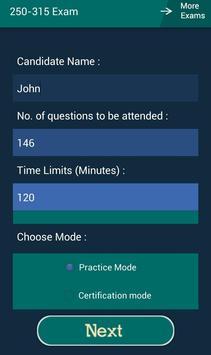 CB 250-315 Symantec Exam apk screenshot