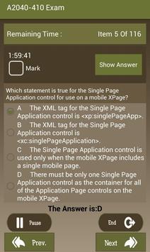 CT A2040-410 IBM Exam screenshot 18