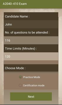 CT A2040-410 IBM Exam screenshot 1