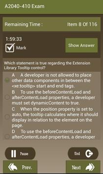 CT A2040-410 IBM Exam screenshot 4