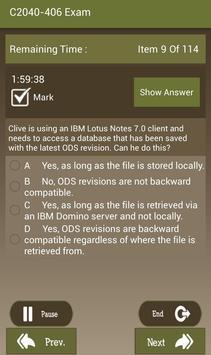 CT C2040-406 IBM Exam apk screenshot