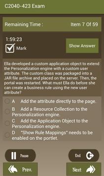 CT C2040-423 IBM Exam screenshot 17