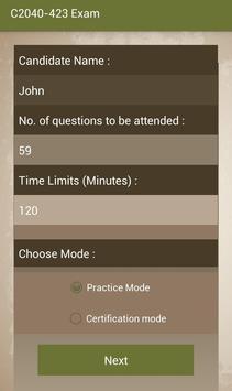 CT C2040-423 IBM Exam screenshot 1
