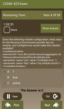 CT C2040-423 IBM Exam screenshot 9