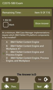 CT C2070-580 IBM Exam apk screenshot