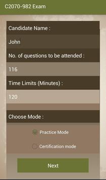 CT C2070-982 IBM Exam apk screenshot