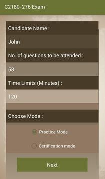 CT C2180-276 IBM Exam apk screenshot