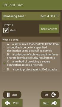 CT JN0-533 Juniper Exam apk screenshot