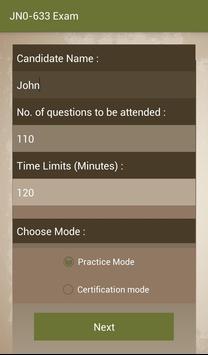 CT JN0-633 Juniper Exam apk screenshot