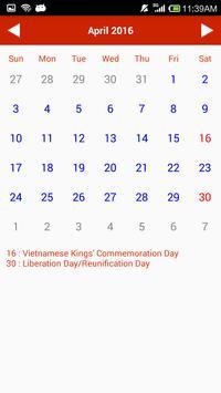 Vietnam Calendar apk screenshot