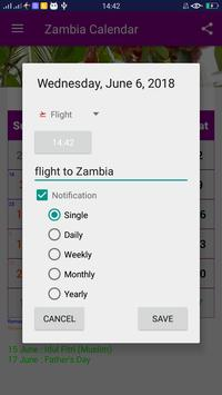 Zambia Calendar apk screenshot