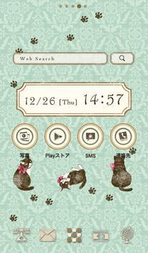 Cute wallpaper★antique cat poster