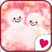 Cute wallpaper★Love snowman icon