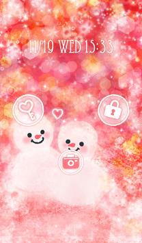 Cute wallpaper★Love snowman apk screenshot