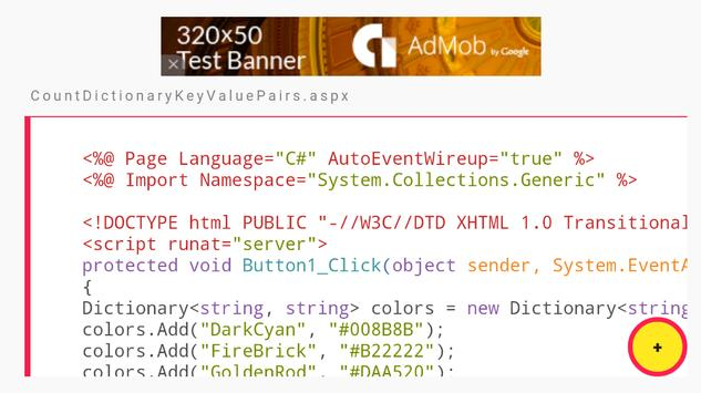 C# Dictionary Examples screenshot 3