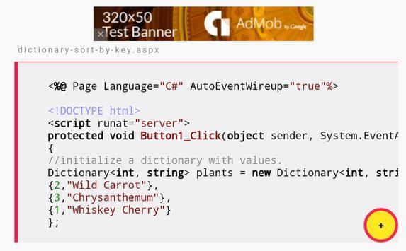 C# Dictionary Examples screenshot 7